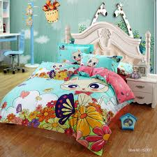 100 cotton cat print kids bedding set king queen twin size with quilt duvet cover bed sheet pillowcover cartoon bedclothes in bedding sets from home