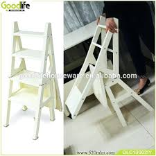 folding library chair wooden step ladder made in china fold over plans