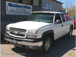 2003 Chevrolet Silverado 1500 LS Extended Cab 4x4 in Summit White ...