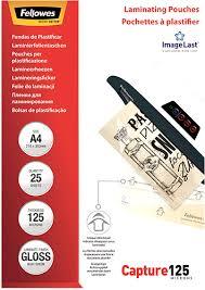 Купить ламинатор <b>Fellowes</b> A4 125 мкм, 25 шт (CRC53963) по ...