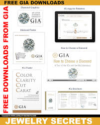 Diamond 4c Chart Free Gia 4cs Diamond Chart Downloads Jewelry Secrets