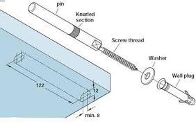 Floating Shelve Brackets Concealed Floating Shelf Bracket Wall Fixing Length 100 mm 79