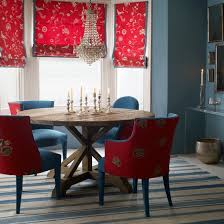 the red and blue clic dining room view in gallery