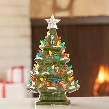 Ceramic Christmas Light Up Tree Disney Retro Ceramic Light Up Tree Light Up Tree Ceramic