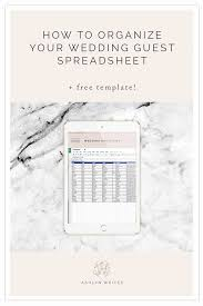 How To Organize A Wedding Guest List Spreadsheet Free