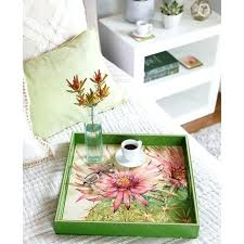 Rock Paper Flower Trays Berries X Inch Rectangular Lacquer Art Tray Rock Flower Paper Trays