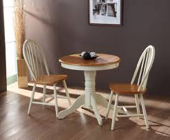 Kitchen: Ancient Small Round Kitchen Table Sets 2 Chair Wooden Design Small  Table in Kitchen