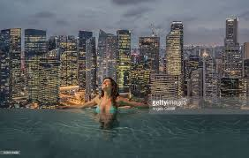 infinity pool singapore. Infinity Pool At Marina Bay Sands Hotel Singapore Stock Photo
