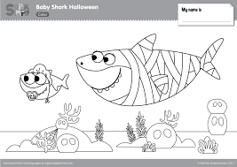 Coloring pages baby sharking page fresh pinkfong amp pages. Baby Shark Halloween Coloring Pages Super Simple