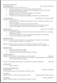 Counseling Psychologist Sample Resume Awesome Curriculum Vitae Examples For Graduate Students School E Template