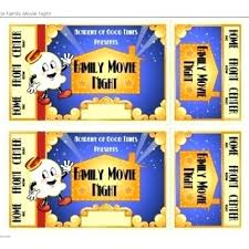 Printable Movie Ticket Templates Print Free Tickets Template Strand