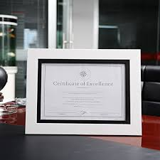 white certificate frame high quality pe material a4 12inch certificate frame black