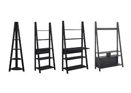 tiva ladder shelving and desk range shelving tv unit bookcase desk black