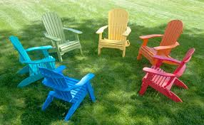 comfort craft maintenance free outdoor furniture in adirondack chair styles