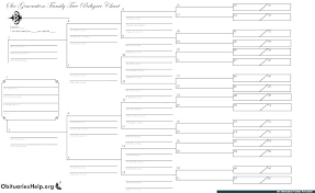 Free Genealogy Charts 15 Generation Pedigree Chart Free Onourway Co
