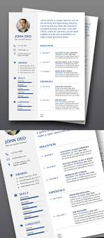 50 Free Cv Resume Templates Best For 2019 Design Graphic