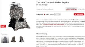 life size iron throne anorak the iron throne lifesize replica yours for 30 000