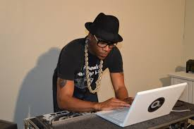 DJ Q-Nice in the studio working on a new mix - Photo By Velo