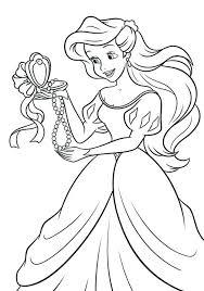 Colouring Pages Disney Princess Ariel Free Princess Coloring Pages
