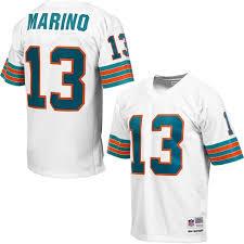 Replica - Vintage Ness Marino Mitchell Player Jersey Dolphins amp; Miami Dan Retired White