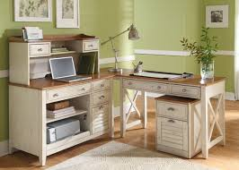 white wood office furniture. Wooden Desks Home Office Desk L Shaped Table In Ivory Color With Drawers White Wood Furniture