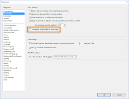 Permanently close the Tools pane in Acrobat Reader DC