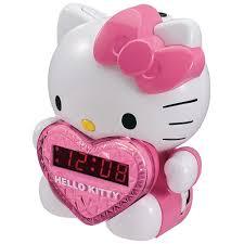 Hello Kitty Digital Am Fm Clock Radio With Night Light Hello Kitty Am Fm Projection Clock Radio With Digital Tuning