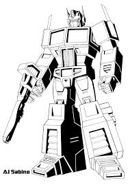 Small Picture Transformers Optimus Prime Coloring Pages G1 Colouring Pages