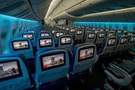 reclining airplane seat