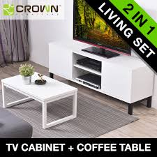 crown living set 5ft tv cabinet a692 coffee table ct035