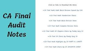 Pankaj Garg Audit Charts Nov 2018 Ca Final Audit Notes Ca Blog India