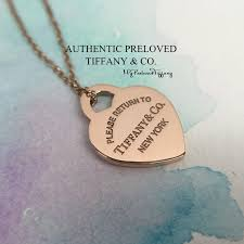excellent tiffany co return to tiffany rubedo metal heart necklace