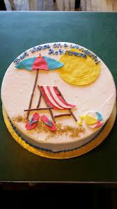 Flip Flop Chair Beach Themed Retirement Cake Fondant Sun Flip Flops Beach Chair