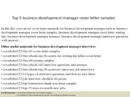 Business Development Cover Letters Top 5 Business Development Manager Cover Letter Samples