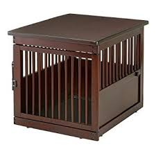 wooden dog crate furniture. Richell Wooden End Table Crate, Medium, Dark Brown Dog Crate Furniture