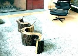 tree stump coffee table glass with base making a out of wit
