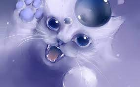 White Cat Anime Wallpapers - Top Free ...