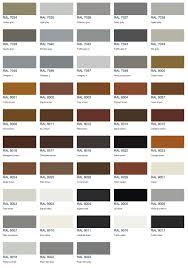 Ral Colour Chart 2016 Aluminium Colour Options Aspect Windows