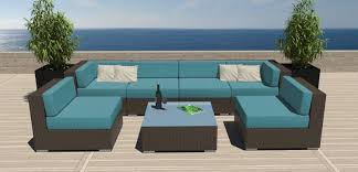 Furniture Trends Outdoor Wicker Patio Furniture With Blue Modern