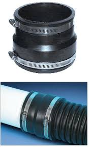 corrugated pipe couplings quickly connect ads and hancor corrugated polyethylene to pvc sewer