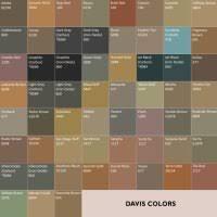Davis Concrete Color Chart Davis Cement Color Chart Uni