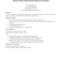 Business Administration Resume Objective For Administrative Resume