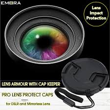 Lens Cap Design Emora Snap On Center Clip Lens Cap With Attached Cap Keeper Altasfoto
