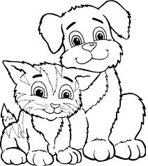 Coloriage Chien Et Chat Imprimer