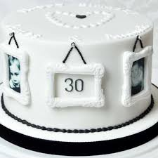 Monochrome Husband Wife 30th Birthday Cake Food In 2019
