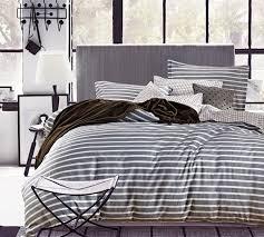 Ideal Extra Long Twin Size Sheet Sets - Classic Gray Stripes Bed ... & Classic Gray Stripes Twin XL Sheets Adamdwight.com