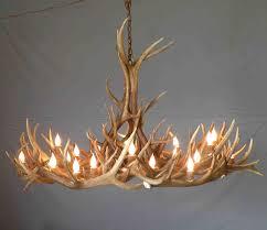 faux d white faux deer antler chandelier antler chandelier within real antler chandeliers gallery
