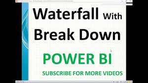 Power Bi Waterfall Chart Multiple Measures Waterfall Chart With Break Down In Power Bi