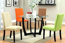 glass dining table and 6 chairs round set for 4 sets best black better