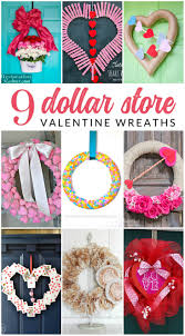 you may not believe it but these valentine wreath ideas all use supplies from the save the dollar